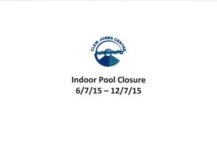 Indoor Pool Closure July 2015