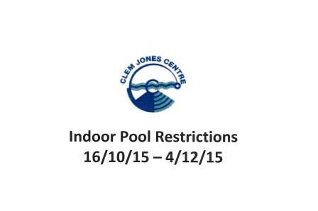 Indoor Pool Restrictions Term 4 2015