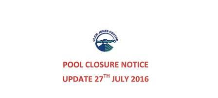 Pool Update 27 July 2016