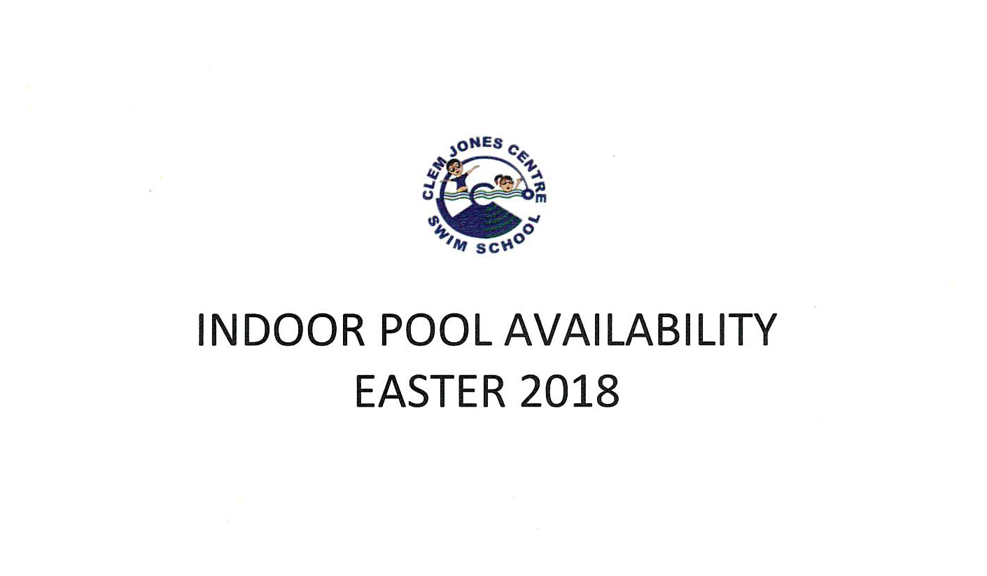 Indoor Pool availability Easter 2018
