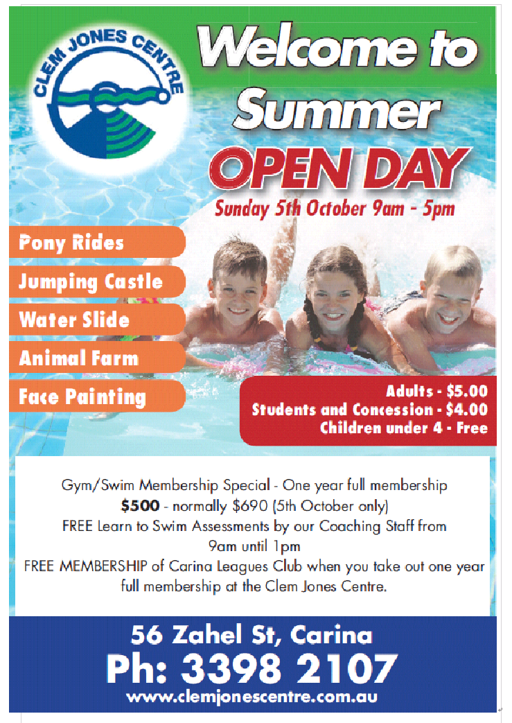 """Welcome to Summer """"Open Day"""""""
