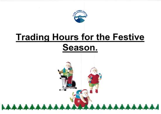 Trading hours for the Festive Season