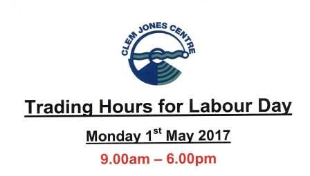 Labour Day trading hours