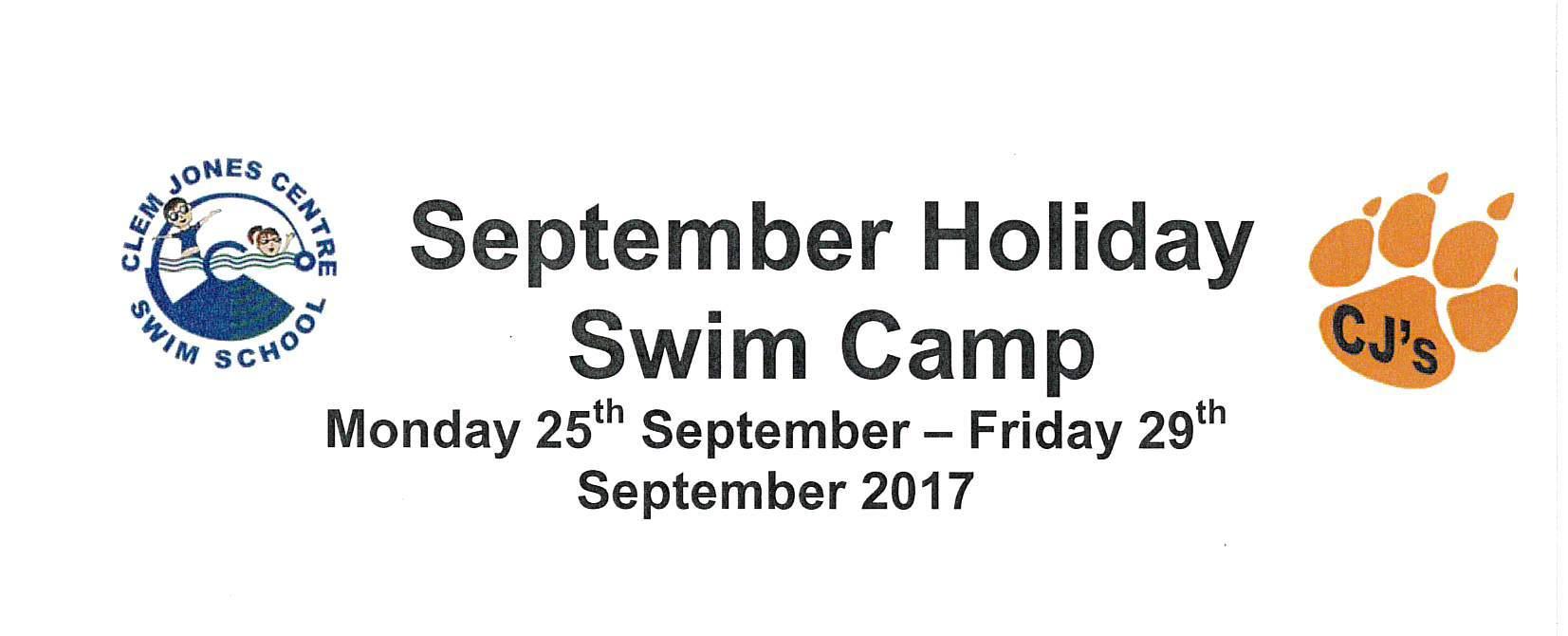 September Holiday Swim Camp 2017