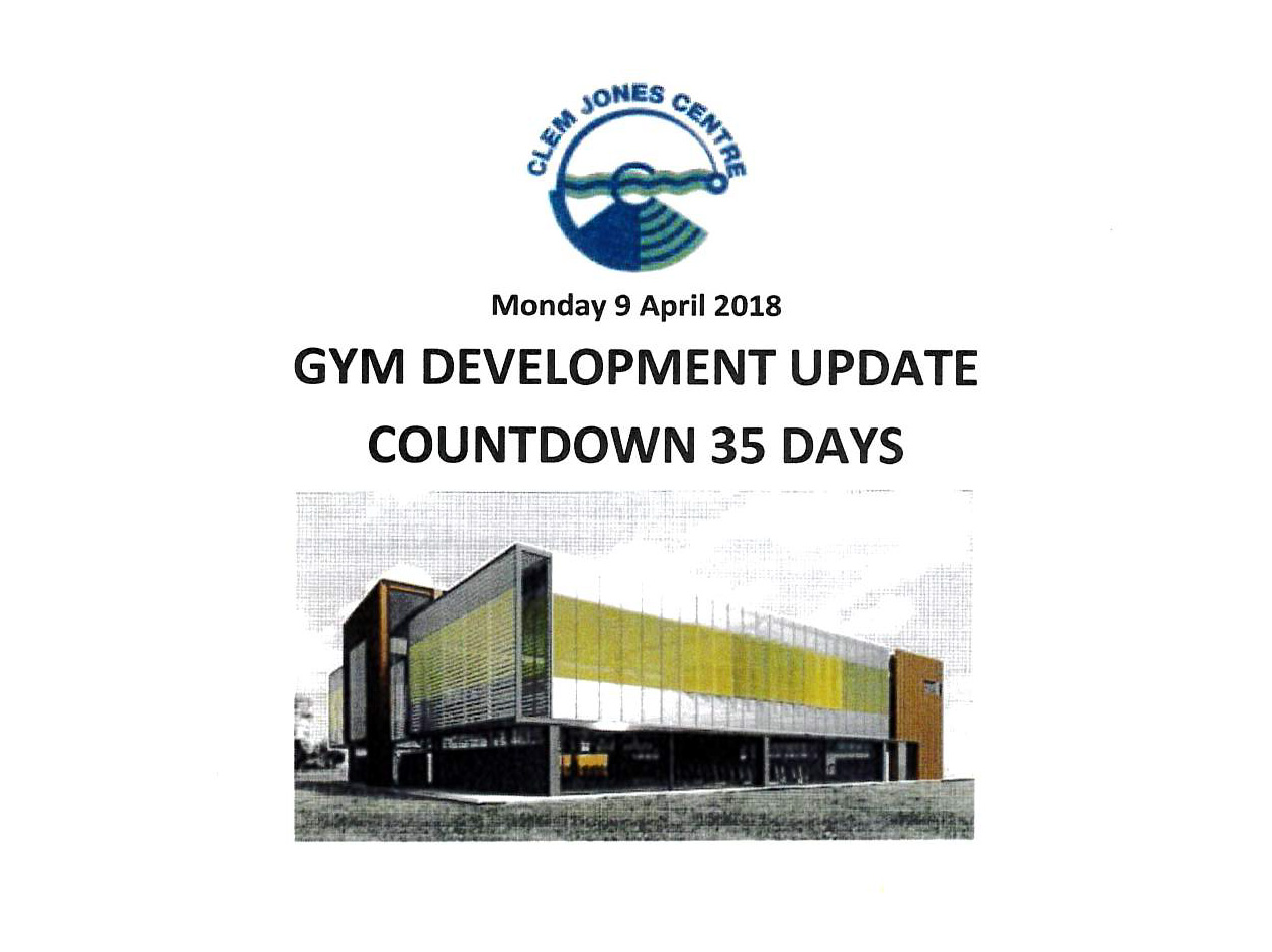 Gym Update 9 April 2018